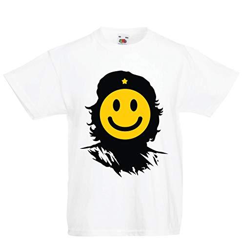lepni.me Kids T-Shirt Anti-Communism, Political Protest Che Guevara Emoji (1-2 Years White Multi Color) for $<!--$11.07-->