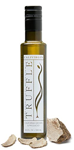 Calivirgin White Truffle Olive Oil - White Truffle Infused Extra Virgin Olive Oil - Cold Pressed Olive Oil - White Truffle Flavored Olive Oil - No Preservatives, Organically Grown Olives - 250ml ()