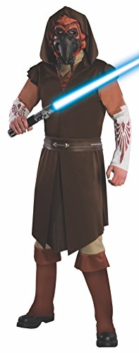 Rubie's Men's Star Clone Wars, Deluxe Plo Koon Costume, Multi, Extra Large -