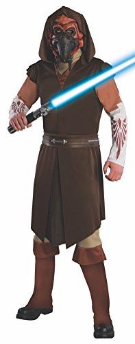 Deluxe Plo Koon Costumes - Rubie's Men's Star Clone Wars, Deluxe