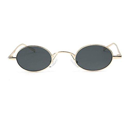 no hombre Dorado para oval gafas metal Gris de hippy mujeres de sol estilo marco Retro clásico polarizado Hwx5RCqC