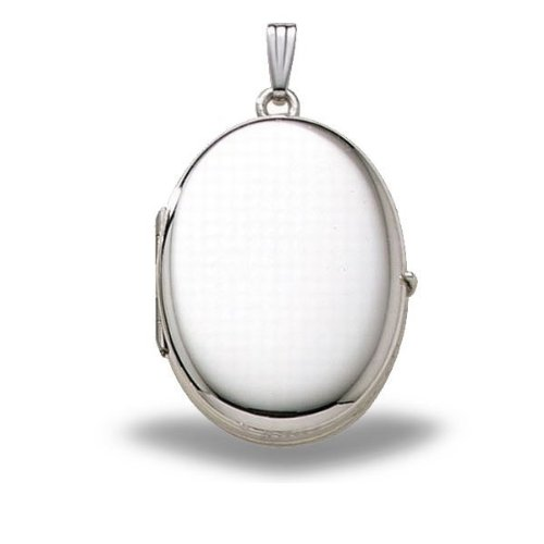 PicturesOnGold Sterling Silver Oval Four Photo Locket 3/4...