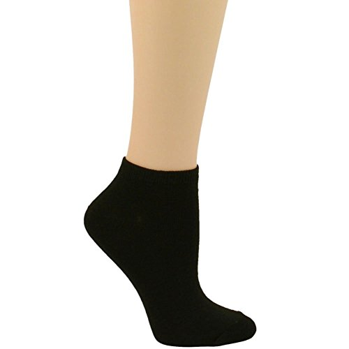 Ladies 12 Pairs Summer Ankle Low Cut Invisible Blank Solid Plain Socks (Sock Blank)