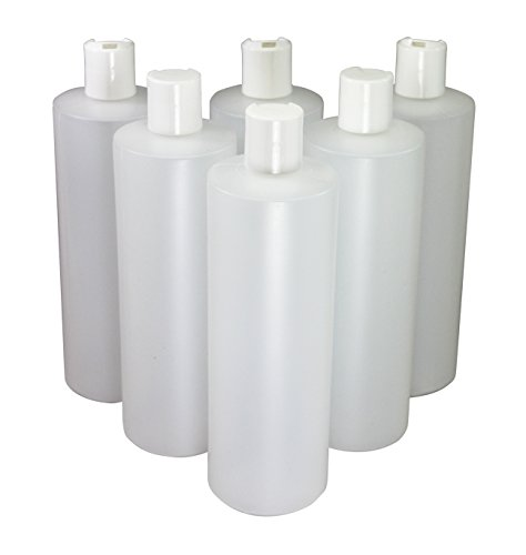 (Pinnacle Mercantile 16 Oz Plastic Squeeze Bottles with Disc Top Flip Cap Set of 6 Empty)