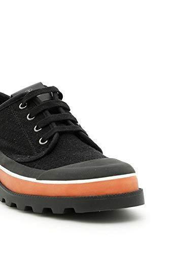 Tela My0s0967gts0no Valentino Hombre Zapatos Negro nYwttCzq