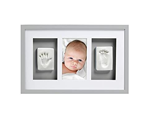 Pearhead Babyprints Newborn Baby Handprint and Footprint Deluxe Wall Photo Frame & Impression Kit, (Imprint Baby)