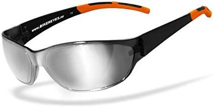 Helly No 1 Bikereyes Bikerbrille Motorrad Sonnenbrille Motorradbrille Beschlagfrei Winddicht Bruchsicher Top Tragegefühl Brille Airshade Silber Auto