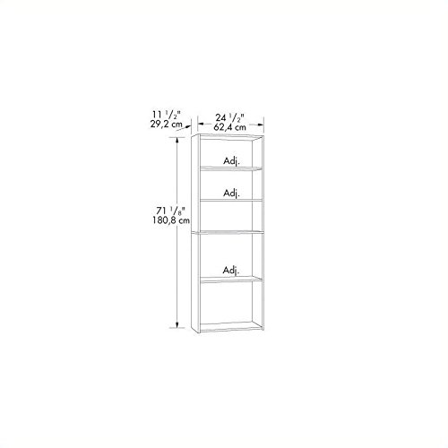 042666133494 - Sauder Beginnings 5-Shelf Bookcase, Cherry carousel main 2