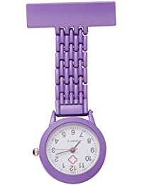 Nurse Lapel Watch Clip on Quartz Watch Fashion Zinc Alloy Lapel Pin Watch Hanging Medical Doctor Pocket Watch