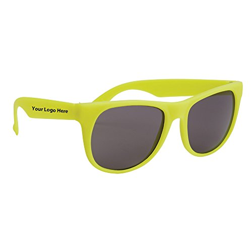 Rubberized Sunglasses - 150 Quantity - $1.25 Each - PROMOTIONAL PRODUCT / BULK / BRANDED with YOUR LOGO / - Rubberized Promotional Sunglasses