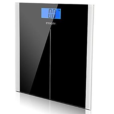 Etekcity Digital Body Weight Bathroom Scale, 400lb/180kg, Elegant Black