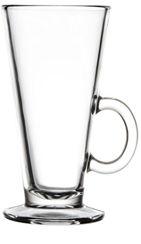 (Circleware Milano Tempered Coffee and Tea Drinking Glasses, Set of 2, 8.8 oz, Clear)