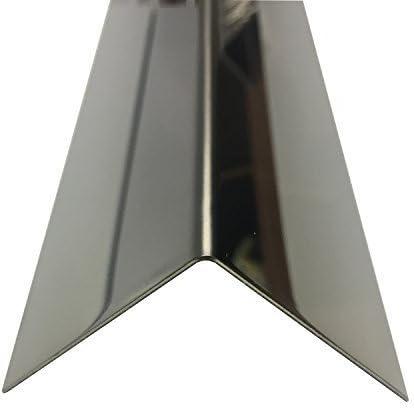 Edelstahl spiegelpolierter Winkel Innenma/ß:, 15x15 mm 2500mm Edelstahl Winkel spiegelpoliert V2A 0,8mm stark Winkelblech Kantenschutz,kreativ bauen