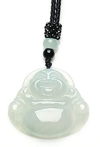 MPH-jewelry Natural Jadeite Jade Pendant Necklace - Buddha (Grade A Jade)