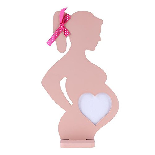 Demiawaking enceinte Cœur Cadre photo en bois pour mariage Petit bébé Femme Cadre photo