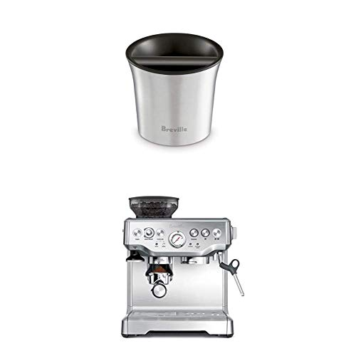 Breville BES870XL Barista Express Espresso Machine and Breville BCB100 Barista-Style Coffee Knock Box Bundle