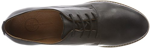 de Up Derby Cordones Mujer Shoes 10 Lace Zapatos Black Negro para Bianco UC1WqpHx