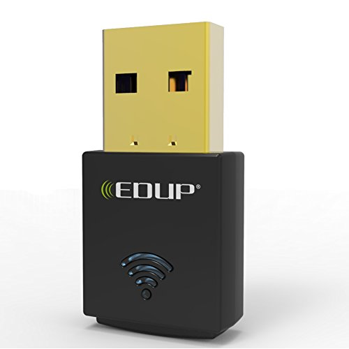 EDUP Wireless Usb Adapter Nano Wifi Dongle 300Mbps Wifi Adapter Card for Raspberry Pi / Pi2, Supports Windows, Mac 10.4-10.12