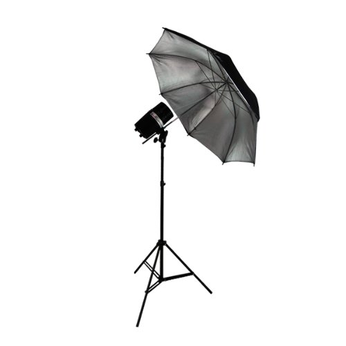 LimoStudio Photography Flash Strobe Monolight Light Lighting Kit Single 200 Watt Flash - Photography Light Stand and Photo Reflective Umbrella, AGG335V2