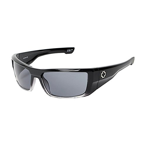 Spy Optic Dirk Wrap Sunglasses, Black Fade Frame/Grey Lens, One (Spy Optic Metal)