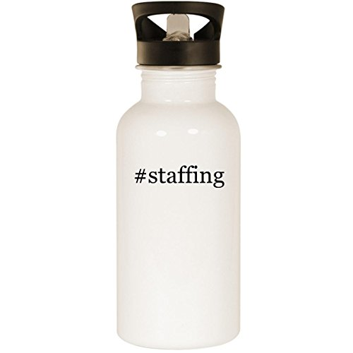 #staffing - Stainless Steel Hashtag 20oz Road Ready Water Bottle, -