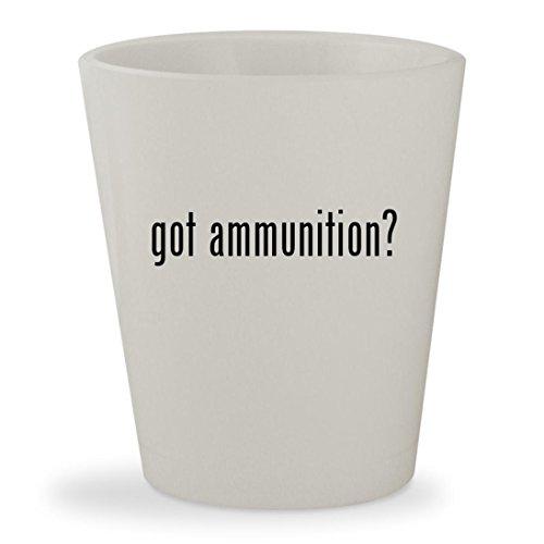 22lr Stinger (got ammunition? - White Ceramic 1.5oz Shot Glass)