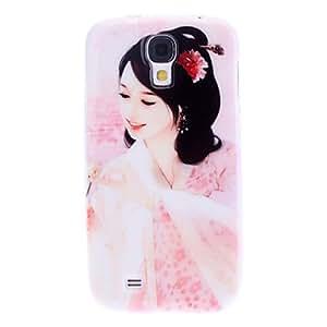Mini - Elegant Woman Pattern Soft TPU Case for Samsung Galaxy S4 I9500