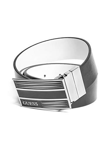Guess Buckle Closure Belt - GUESS Men's Reversible Logo Plaque Belt