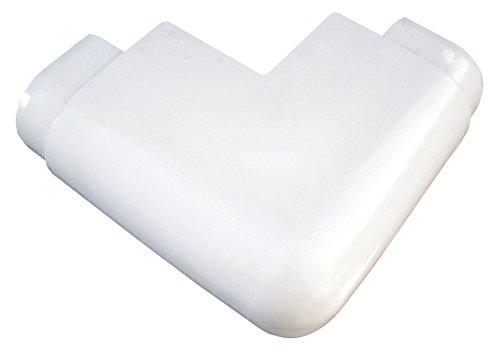 Dock Edge Air Cushion Profile Corner Outside Premium Dock Guard, White, ()