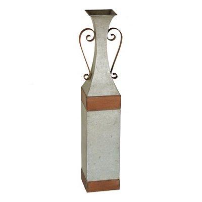 Amazon Galvanized Metal Floor Vase Home Kitchen