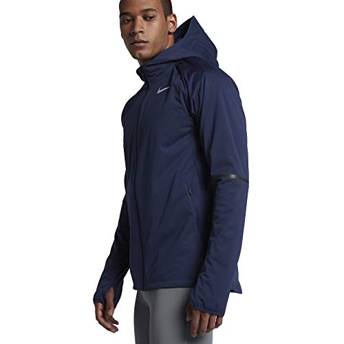 Nike Men's Shield Max Warm Running Jacket - Binary Blue (XX-Large) (Warm Nike Up)
