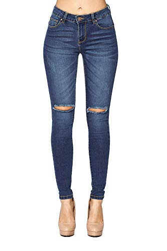 ICONICC Women's Butt Lifting Denim Ripped Skinny Jeans (JP1089_MD_5)