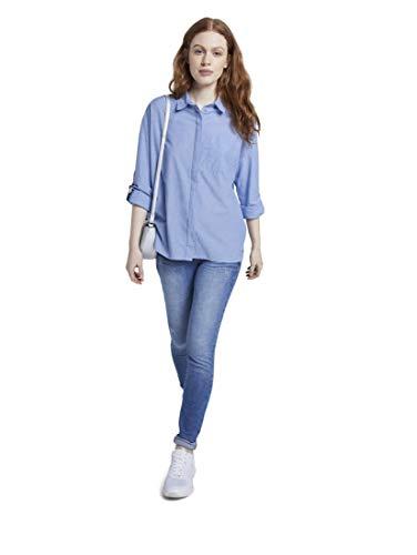 TOM TAILOR Denim dam boxy tröja blus blus
