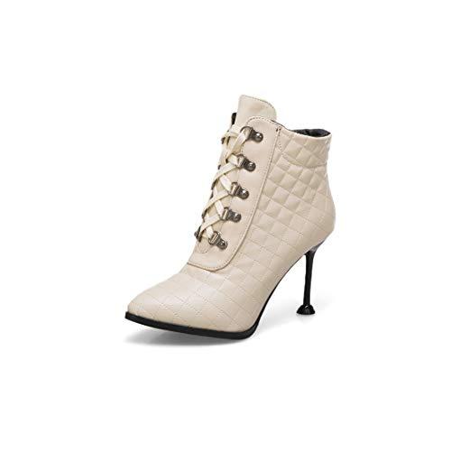 Sandalette-DEDE Zapatos para Mujer/Botas Botas de Mujer y Botas de Mujer Sexy Beige