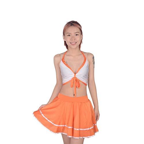 Xcfypiao Cheerleader Fancy Dress,Girl Cheerleading Uniform Suit Jacket Short Skirt Student Football High School Music Dance -