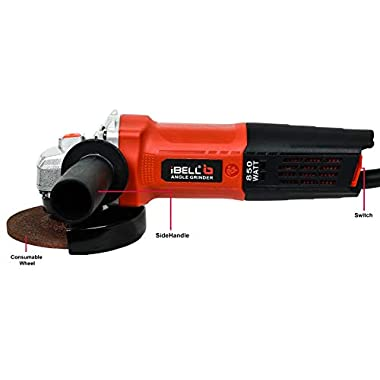 iBELL AG10-70, 850W,4-INCH, 11000RPM Angle Grinder W/Back Switch, 1 Grinding Wheel,1 Wheel Guard, 6 Months Warranty 10