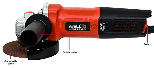 iBELL AG10-70, 850W,4-INCH, 11000RPM Angle Grinder W/Back Switch, 1 Grinding Wheel,1 Wheel Guard, 6 Months Warranty 4