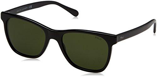 Polo Ralph Lauren lunettes de soleil carrées en noir PH4128 500171 54 Green Black