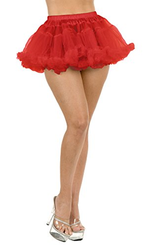 Charades - Chamarra de Doble Capa Corta para Mujer, Rojo, Talla única