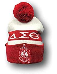 Delta Sigma Theta Winter Pom Pom Knit Beanie Hat