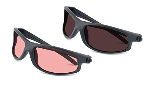 TheraSpecs Wrap Migraine Glasses For Light Sensitivity, Photophobia And Fluorescent  Lights | Unisex | Indoor