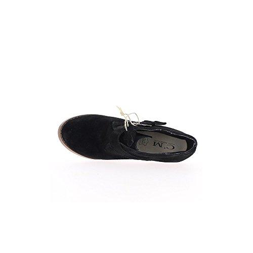 Richelieux noirs cuir à talon de 8cm et lacets
