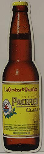 Used, Pacifico Clara Beer Metal Sign die Cut Bottle 21.75 for sale  Delivered anywhere in USA
