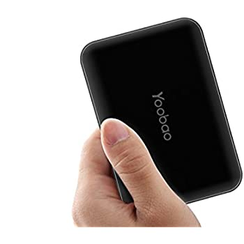Yoobao M5 10000 mAh Dual USB Output Power Bank Compact Portable Charger with Backup Flashlight External Battery for iPhone iPad Samsung Google Nexus LG Huawei and More-Black