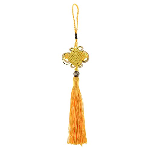 Dovewill Chinese Tassel Lucky Knot New Year Decorations Good Luck Knots Gift for home - Yellow, One Size ()