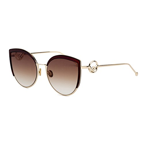 Z&HA Women's Cat Eye Sunglasses Large Frame Sea-Colored Lens Glasses Street Shot Eyeglass Young Girl Clothing Accessories Eyewear Designer Style,Brown