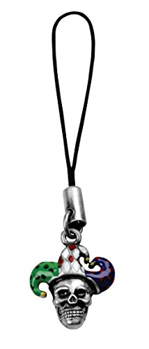(YTC Summit Skull Jester Mobile Strap - Cell Phone Accessory Skeleton Clown)