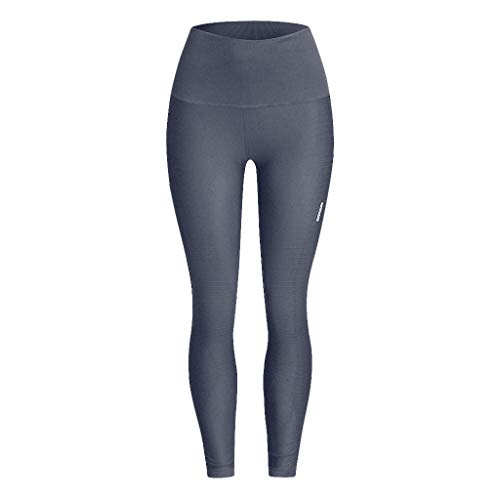 iHPH7 Yoga Pants High Waist Leggings Control Workout Pants for Women Seamless Solid Yoga Sports Tight Pants Hips High Waist Thread Pant (L/XL,5- Gray)]()