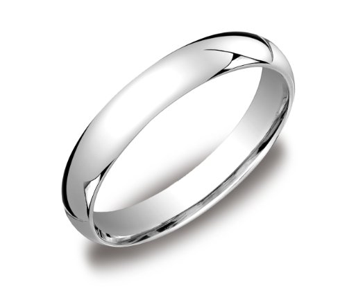 Standard Comfort-Fit 18K White Gold Band, 4mm, Size - White Ring Gold 18k Wedding