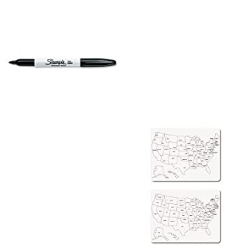 KITCKCSAN Value Kit Creativity Street TwoSided US - Us map whiteboard